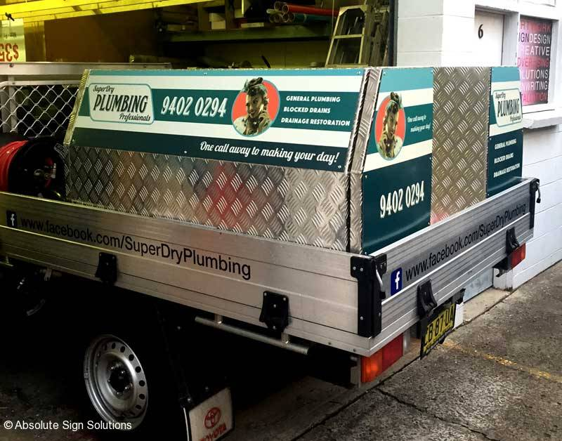 Custom stickers for utes vans and trucks in sydney